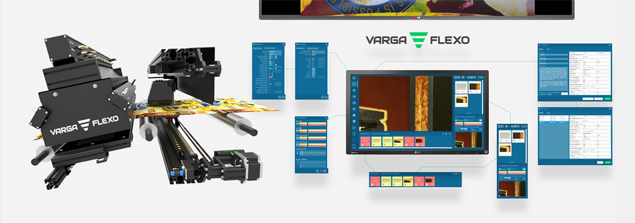 Flexonyomógépek, tekercsvágók, laminálók gyártása | Nyomatellenőrző rendszer