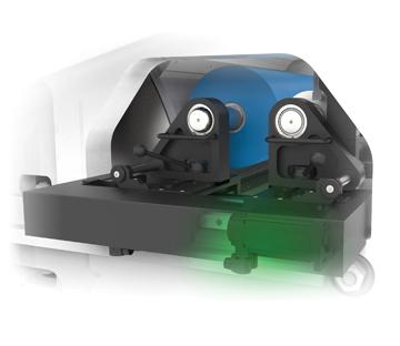 Flexonyomógépek, tekercsvágók, laminálók gyártása | Napędy bez kół zębatych-Regulacja zespołów drukowych za pomocą silników-Tłumienie drgań