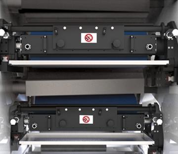 Flexonyomógépek, tekercsvágók, laminálók gyártása   Doctor blade chamber and ink application